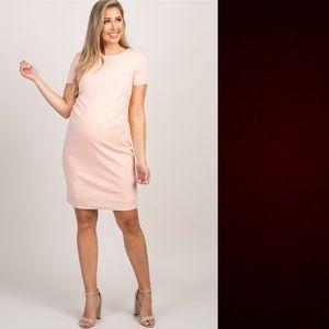 NWT Pink Blush Peach Maternity Dress
